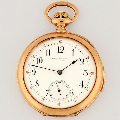 £4670.55 • Buy Girard Perregaux 14K Rose Gold 5 Minute Repeater Hammers Jeweled Pocket Watch