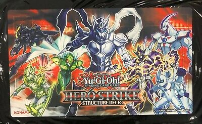 AU29.95 • Buy Hero Strike Structure Deck YuGiOh Playmat Trading Card Custom Play Mat