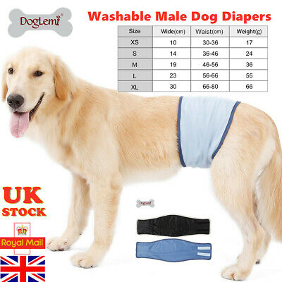 Male Dog Puppy Belly Wrap Band Nappy Diaper Sanitary Holder Pants Underpants • 6.58£