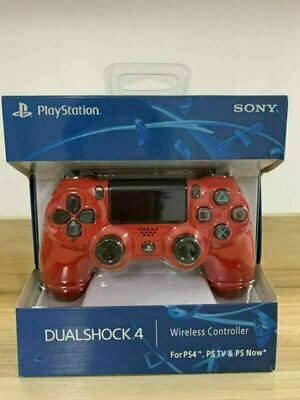 SONY PS4 Controller  PlayStation Games Console Red Game Pad DualShock Wireless • 23.49£