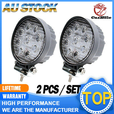 AU30.99 • Buy 2X 27W 5Inch Spot Round LED Work Light Offroad Fog Driving For DRL SUV ATV Truck
