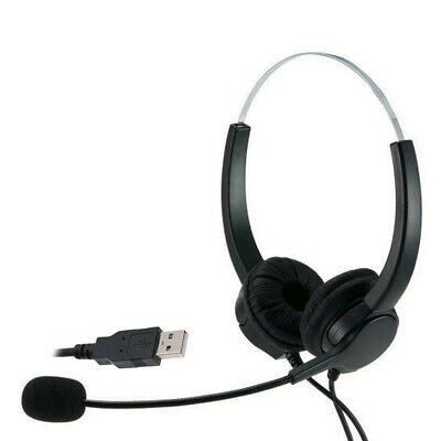 Call Center Headset USB Wired Offical Telephone Headphone With Microphone • 15.46£