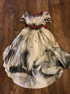 Amazing Girls Halloween Dress Zombie Bride Doll Ghost Age 7/8/9 • 25£