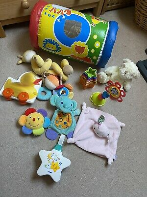 Baby Bundle Toys Boy/girl Unisex  10 Items Tomy Starlight, Inflatable Roller • 3.99£