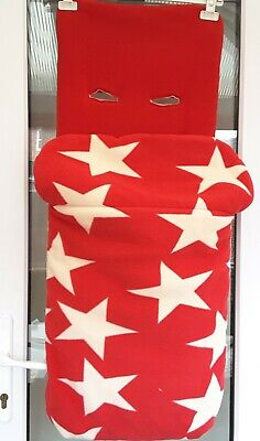 John Lewis Red Star Foitmuff Cosytoes Snuggle Completely Unzips • 10£