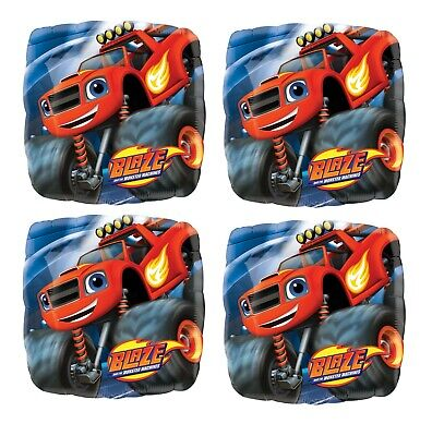 4x 18  Blaze And The Monster Machines Foil Mylar Balloon Party Decoration • 8.80£
