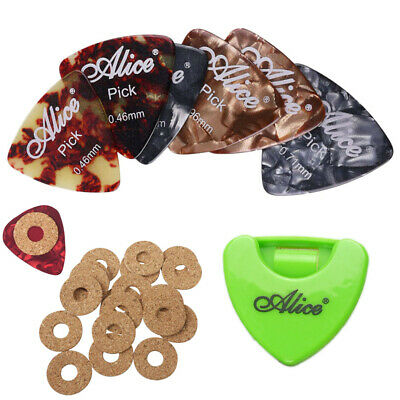 $ CDN12.61 • Buy 30pcs Guitar Picks Celluloid Acoustic Electric With Pick Grip & Picks Holder