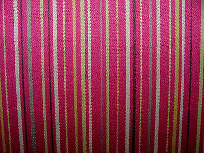 £14.99 • Buy Romo Fabric Pink Stripe 100% Wool Curtain Upholstery Cushion Use RRP £119.00PM