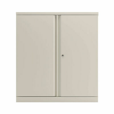 Bisley 2 Door 1000mm Cupboard Empty Chalk White KF78710 • 325.69£