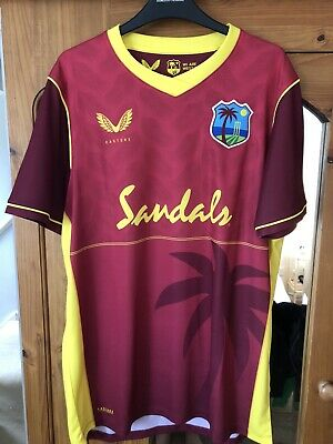 West Indies Cricket Mens Castore 2020 ODI Shirt Size Large New Gayle England  • 54.99£