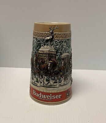 $ CDN33.84 • Buy 1987 Budweiser Collector C Series Stein Anheuser-Busch Beer Mug Cup, Clydesdales
