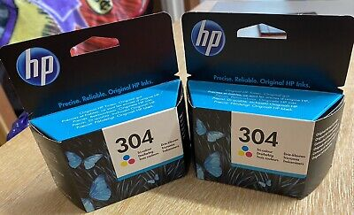 HP 304 Tri-Colour Ink Cartridge X2. Brand New Never Opened • 7.04£