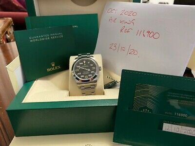 $ CDN11445.49 • Buy Rolex AIR KING REF 116900 Box And Papers 2020 Black Face. Hard To Get.