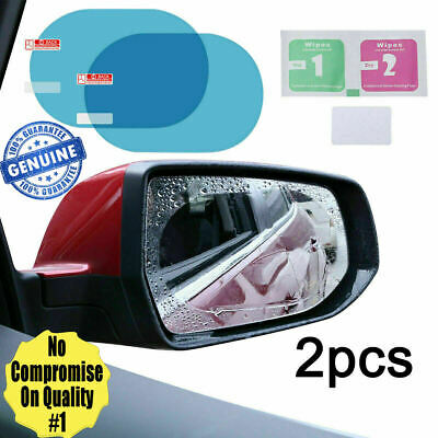 Rainproof Car Wing Mirrors Anti-fog Protective Film Sticker Rain Shield 2 Pcs • 2.79£