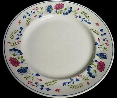 £8.50 • Buy  BHS Priory Blue Red Pink Flowers Pattern 10¼ Inch  Dinner Plate X1 (4 Avail)
