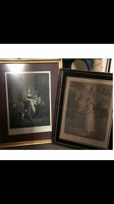 Cries Of London ~ C19th ~ F. Wheatley ~ 2 Framed Prints ~ Plates #1 #6  • 50£
