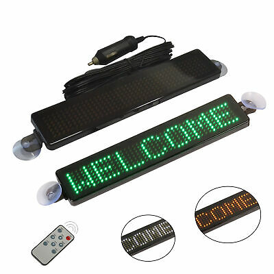 12v Led Car Programmable Message Sign Moving Scrolling Display Board With Remote • 17.32£