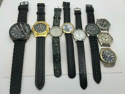 $ CDN57.34 • Buy Working Lot Of 9 Men's Quartz Watches - Wenger Time Precision Watch-It & More