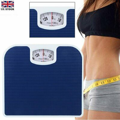 Accurate Mechanical Dial Bathroom Scales Weighing Scale Body Weight Blue 130Kg • 12.49£