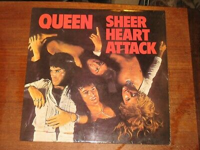 Queen 'Sheer Heart Attack' 1974 UK-issue EMI LP • 5.19£