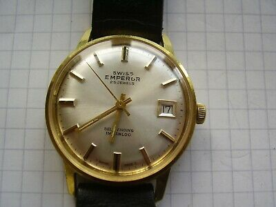 SWISS EMPEROR 25 Jewels Automatic, 34mm. Excellent Dial, Spares Or Repair • 12.50£