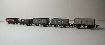 N Gauge Farish And Dapol 5 And 7 Plank Wagons X5. See Description For Details.  • 15£