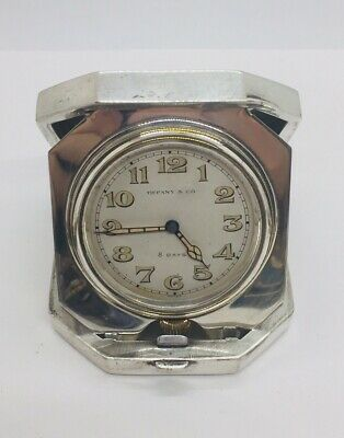 AU772.07 • Buy Tiffany & Co. Antique Sterling Silver Manual Wind 8 Day Travel Clock
