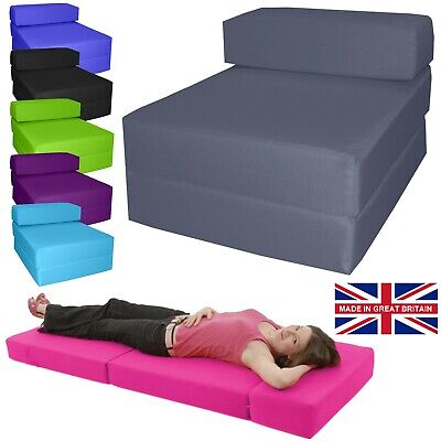 £39.99 • Buy Chair Z Bed Fold Out Futon Single Guest Folding Mattress Sofa Bed Chairbed Foam