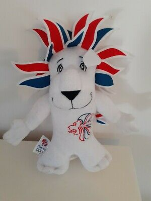 London 2012 Lion Olympic Games Team GB Mascot Soft Toy Plush Collectible • 10£