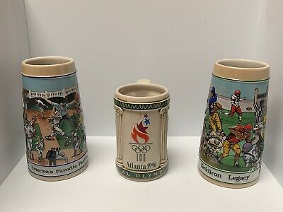 $ CDN37.49 • Buy Budweiser Stein Lot Atlanta Olympics Gridiron Legacy Football  Baseball Stein