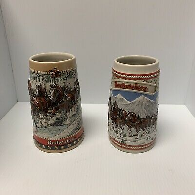 $ CDN37.49 • Buy Budweiser Stein Vintage Winter Lot Clydesdale Holiday Anheuser Busch Collection