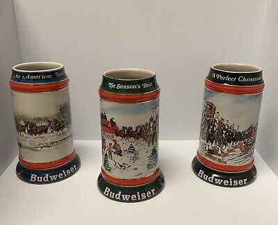$ CDN57.23 • Buy Budweiser Stein Vintage Collector's Series Lot Clydesdales And Wagon Ceramarte