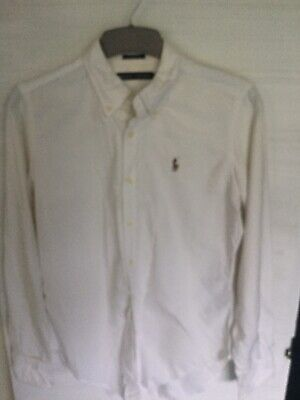 Ralph Lauren Skinny Fit White Fitted Shirt, Size 8. • 2.20£