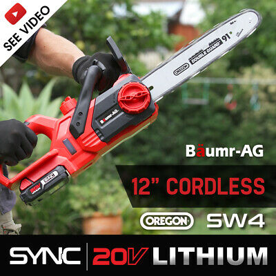 AU149 • Buy Baumr-AG 20V 12  Cordless Chainsaw Lithium-Ion Electric Pruner Oregon Garden