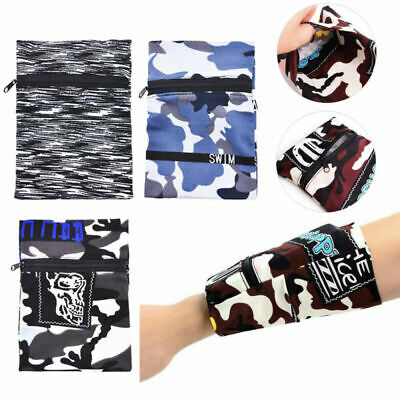 AU4.39 • Buy Wallet Wrist Band Travel Portable Pocket Key Zipper Men Women Arm Accessories