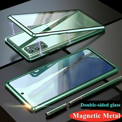 AU18.99 • Buy Magnetic Metal Bumper Double Tempered Glass Case For Samsung Galaxy S20 Ultra/20