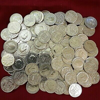 Shiny SILVER Sixpence : 1920-1946 : Lucky Birthday Wedding 6d Coin : Choose Year • 2.99£