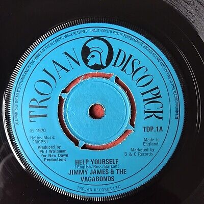 £12 • Buy Jimmy James & The Vagabonds, Help Yourself/ Why 7  Trojan 1970