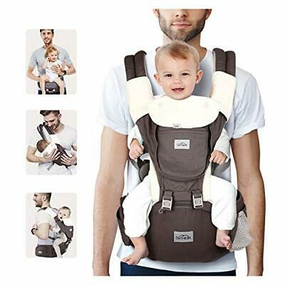 SIMBR Baby Carrier With Hip Seat, Convertible 12-in-1 Ways To Carry & Adjustable • 53.99£
