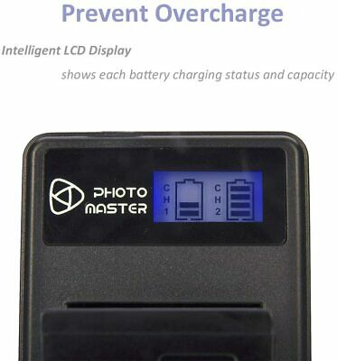 PHOTO MASTER NP-FW50 USB LCD Dual Charger • 8.99£