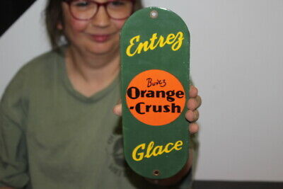 $ CDN93.56 • Buy Orange Crush Soda Pop Gas Oil Porcelain Metal Sign