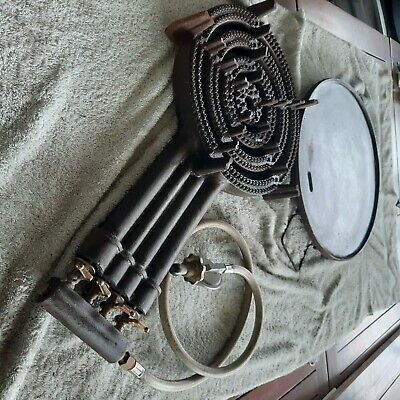 AU120 • Buy 4 Ring Gas Burner + Regulaor +Plate -Used But Never Used