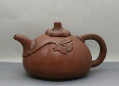 AU39 • Buy Nicely Made Vintage Chinese Yixing Vine Design Functional Teapot W/Maker's Mark