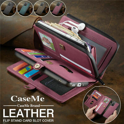 AU34.25 • Buy For Samsung Note20 S20 Ultra S10 S9 Plus Case Leather Wallet Cards Flip Cover