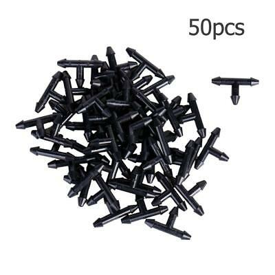 50pcs 3/5mm Garden Hose Equal Tee Micro Drip Irrigation Pipe Connector • 4.03£