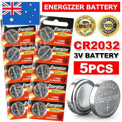 AU4.85 • Buy 5x For ENERGIZER BUTTON COIN CELL CR2032 CR 2032 3v Lithium Battery Batteries