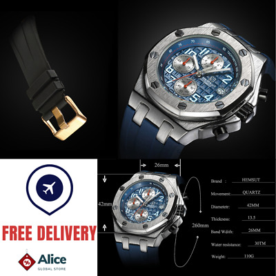 $ CDN40.71 • Buy HEMSUT Watch Luxury Men Masculino Offshore Chronograph Homage Quartz