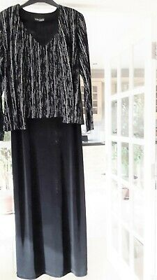 Long Dress And Jacket - Black And Silver Stripe • 39£