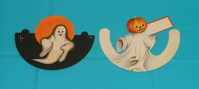 $ CDN37 • Buy Vintage HALLOWEEN PLACE CARD LOT X2 (one By Hallmark) Ghost Ghosts