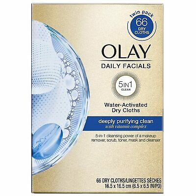 AU18.85 • Buy Olay Daily Facials Deeply Purifying Clean 5-In-1 Cleansing Wipes With Power Of